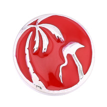 Palm Tree Crane 3D Rhinestone 20mm Ginger Snaps Chunk Charm Button Fit N... - $6.05
