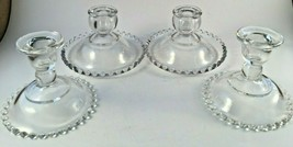 Imperial Glass Candlewick Clear Candleholders Lot of 4 - $32.00