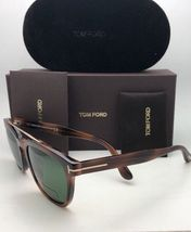 New TOM FORD Sunglasses HOLT TF 516 53N 54-19 145 Tortoise & Gold w/Green Lenses image 6