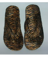 Pedicure Slippers Animal Print Faux Fur Size 7-8 - $6.50