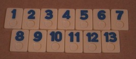 Vintage Rummixkub board Game Replacement Parts Pieces Blue Tiles 1-13 Only - $4.94