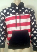 AMERICAN FLAG USA FREEDOM PATRIOTIC NAVY ARMY MARINES SWEATER PULLOVER H... - $39.99