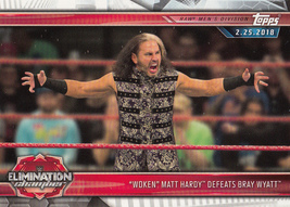 """Woken"" Matt Hardy 2019 Topps WWE Road To Wrestlemania Card #100 - $0.99"