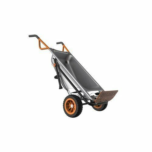 Wheelbarrow: 2 Wheeled Multi-function Cart Dolly Flat Free Tires