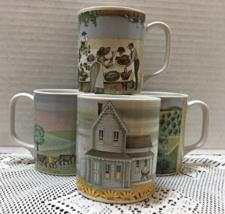 Vintage Set of Four VANDOR LOWELL HERRERO Country Farm Homestead Coffee ... - $25.00