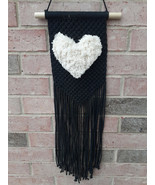 Macrame Fluffy Heart Wall Hanging | Gift Idea | Valentine's Day | Home D... - $44.55
