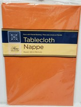 "Thin Peva Vinyl Tablecloth 60"" Round (4-6 ppl) HALLOWEEN ORANGE COLOR, GR - $8.90"