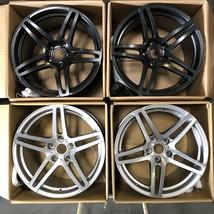 Used 19x11 MRR RW5 fit Porsche 5x130 52/40 Black+Silver Wheels set(4) - $399.00