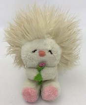 "1982 Dakin Nature Babies Frou Frou Plush White Cream Pink Flower 7"" - $19.79"