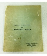 1952 Favorite Recipes of Methodist Women Cookbook Has Wear Esther Circle... - $22.28