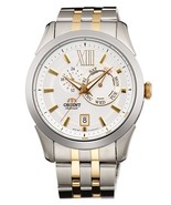 Orient FET0X002W Men Watch White Dial 2 Tone Gold Stainless Steel - $186.00