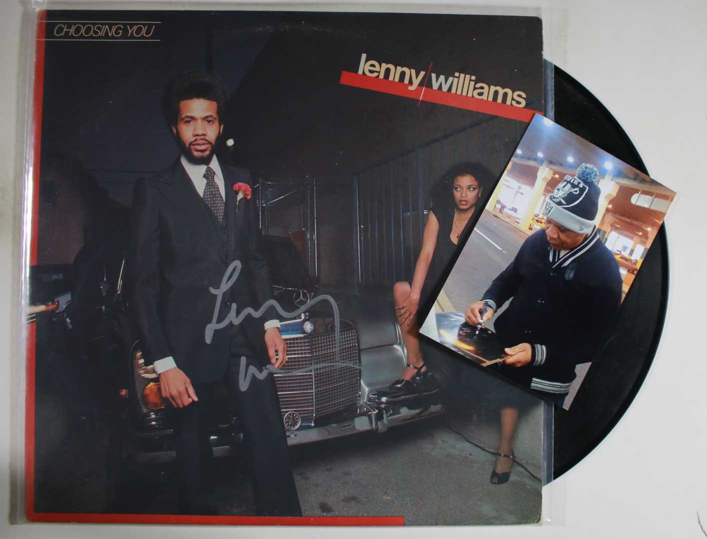Primary image for Lenny Williams Signed Autographed Record Album w/ Proof Photo