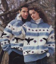 Knit Native American Loon Scandinavian Southwest Sante Fe Sweater Patter... - $13.99