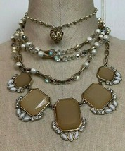 Necklaces LOT Fashion Jewelry White House Black Market Vintage Pearls Be... - $24.70