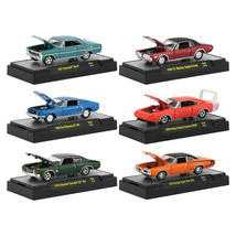 Detroit Muscle Release 48, Set of 6 Cars IN DISPLAY CASES 1/64 Diecast M... - $61.95