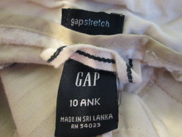 Ladies Size 10 cream color striped dress pants by GAP  MHELW354 - $12.63