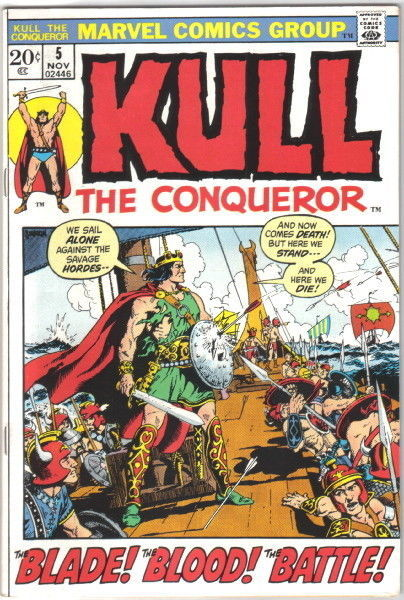 Primary image for Kull The Conqueror Comic Book #5 Marvel Comics 1971 VERY FINE-