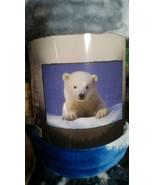 Polar bear American Heritage Woodland Plush Raschel Throw blanket - $23.75
