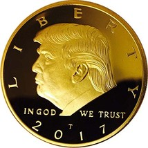 Donald Trump Gold Coin, Gold Plated Collectable Coin and Case Included, ... - $13.34