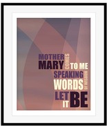 Beatles LET IT BE Illustrated Song Lyrics Art M... - $19.79 - $197.99