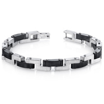 Mens Z-Link Brushed Finish Stainless Steel Bracelet - $69.99