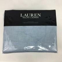 Lauren Ralph Lauren European Quilted Pillow Sham Blue 100% Cotton New - $58.99