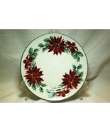 Totally Today Poinsettia Holly Christmas Salad Plate - $3.81