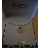 Dazzling Designs Created Fire Opal Necklace New With Gift Box - $38.60