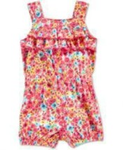 First Impressions Baby Girls Floral Print Romper Prism Pink Size 24 mont... - $15.99
