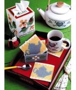 Plastic Canvas Ladybug Tissue Cover Inchworm Tote Teapot Coaster Sampler... - $6.99