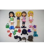 """LOT OF 4 MANDY MIX UP 5"""" DOLLS INTERCHANGEABLE BODIES HEADS CLOTHES HAIR - $14.65"""