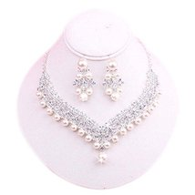 Beautiful Wedding Jewelry Pendant Earrings & Exquisite Necklace Bridal Dowry Set