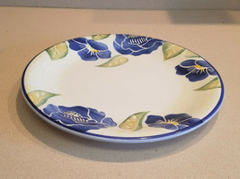"""Dansk Italian Floral 10.5"""" Dinner Plate Made In Italy Floral Hand Painted - $9.90"""
