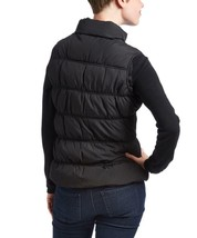 New Us Polo Assn Women's Premium Athletic Plush Puffer Zip Up Vest Black image 2