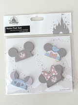 Disney Parks Mickey Mouse Ears Hat Mini Self Stick Notepad Set of 4 NEW - $19.79