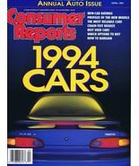 ORIGINAL Vintage 1994 Consumer Reports Magazine Cars Issue - $14.84