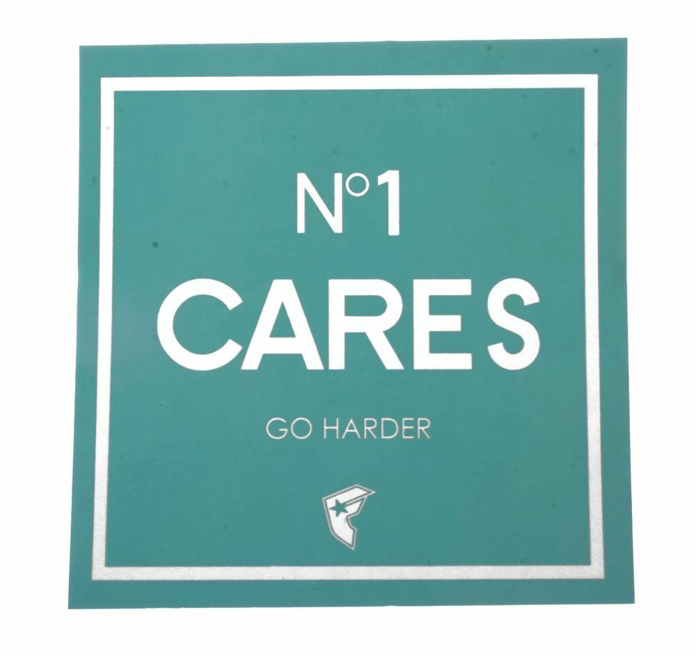 "Famous Stars & Straps No1 Cares Go Harder Mint 4"" Sticker"