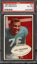 1953 Bowman #34 Lou Creekmur Psa 4 Lions *DS5435 - $32.00