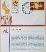 FDC Commemorating the United States Bicentennial Spirit of 76: Ecuador   - $2.95