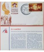 FDC Commemorating the United States Bicentennial Spirit of 76: Ecuador   - $2.95