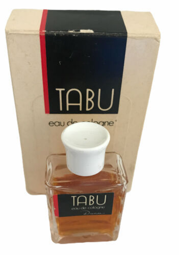 Primary image for TABU By Dana Eau de Cologne 1/2 oz. White Cap Boxed Vintage Used 90% Full