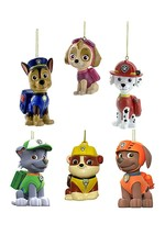 Paw Patrol Blow Mold Ornament Set Holiday Christams Tree Dog Kurt Adler... - $37.13