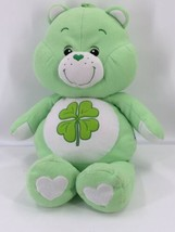 "Care Bears Plush Good Luck Bear Four Leaf Clove Jumbo 29"" Green 2002 Rare - $27.10"