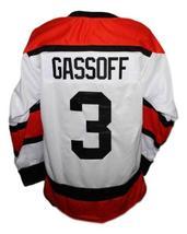 Bob Gassoff #3 Denver Spurs Custom Retro Hockey Jersey New White Any Size image 2