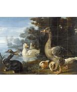 DUCKS GUINEA PIGS AND A RABBIT by David de Coninck Tile Mural Kitchen Ba... - $648.00