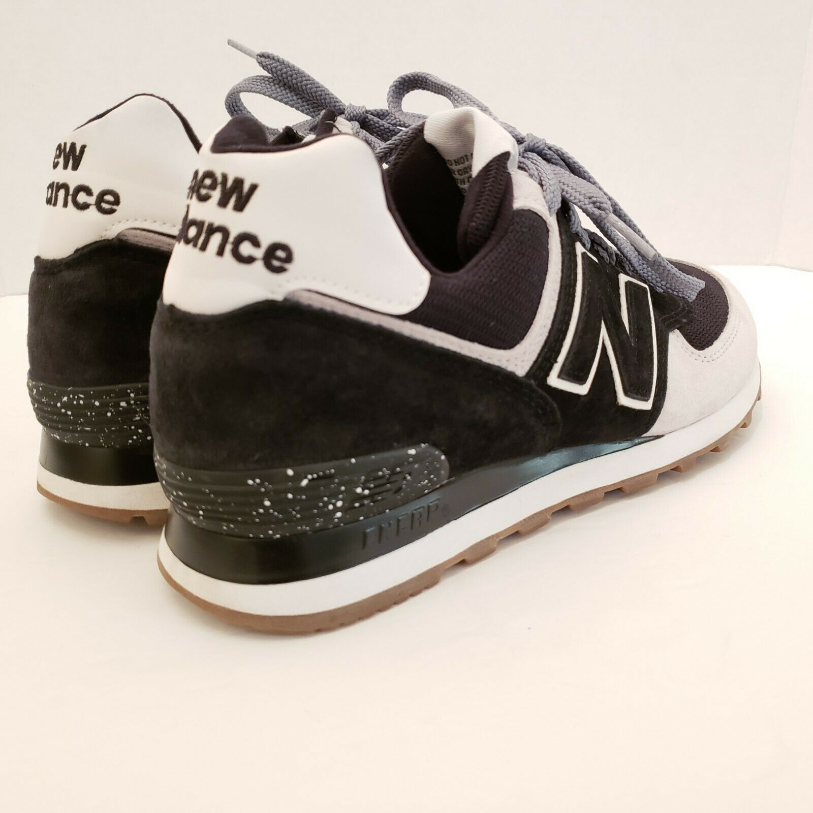 New Balance Men's Size 7 Black and White Running Sneakers USA Made Classic Shoe image 2