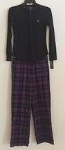 Lauren Ralph Lauren Knit Top Pajama Set 8171100 Black / Purple Plaid  Small - $34.00