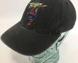 Universal Studio Spiderman Hat THWIP Black Strapback Vintage 1999 Marvel Kids