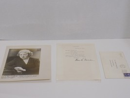 3 Pc Lot 1950 BESS TRUMAN Signed Letter on White House Letterhead Photo ... - $245.03