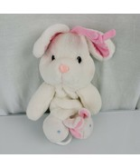 Prestige Toy Corp Stuffed Plush Bunny Rabbit Musical Crib Pull Toy White... - $49.49